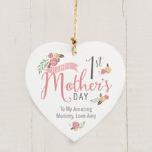 Floral 1st Mothers Day Wooden Decoration