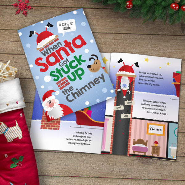 When Santa got stuck up the chimney personalised book
