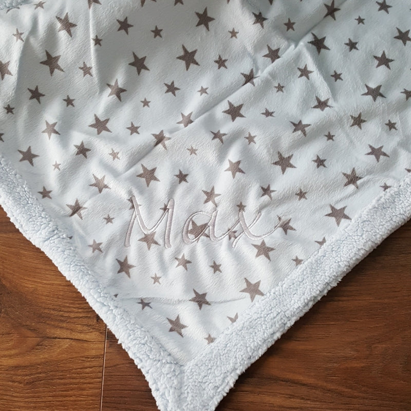 Super Soft Star Reversible Baby Blanket