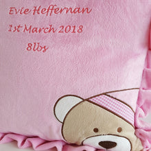 Classic Bear Baby Cushion Pink
