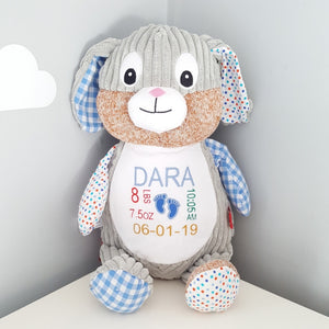 Blue Personalised Bunny