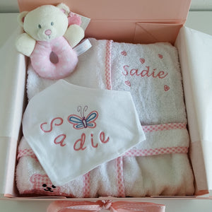 Bambi - Personalised Baby Gift Set Pink