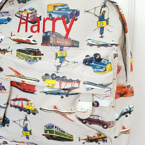 Transport Personalised Mini Backpack