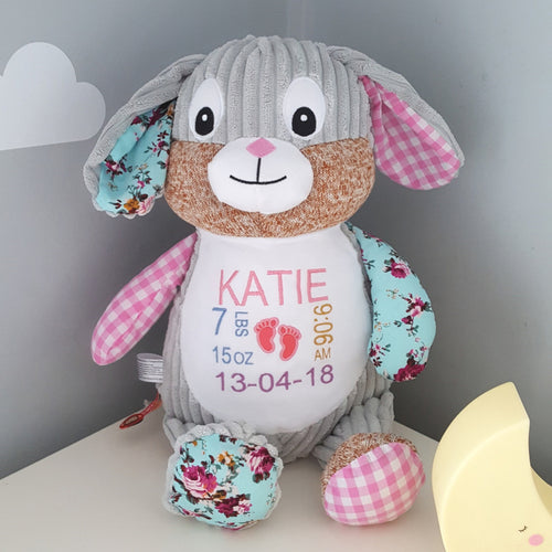 Pink personalised Bunny