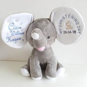 Elephant Keepsake Teddy in Grey