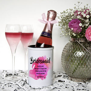 Personalised Bridesmaid Mini Champagne Bucket