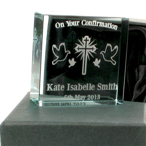 Personalised confirmation jade block