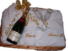 Spa robes with champagne