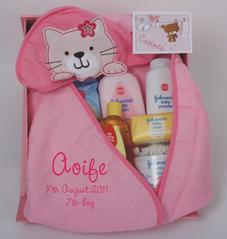 Bath time gift set in pink