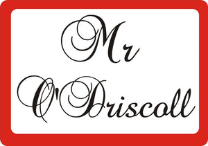 Mrs & Mrs personalised placemat & coaster