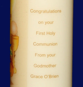 Communion candle detail