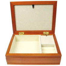 Soft orange muscial confirmation jewellery box
