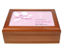 Dove design confirmation jewellery box