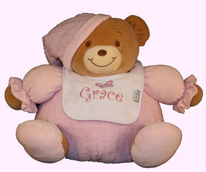 Large Baby Bear with Embroidered Bib