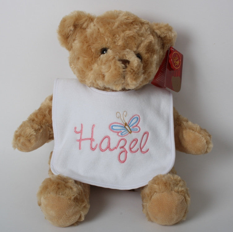 Personalised teddy bear and bib