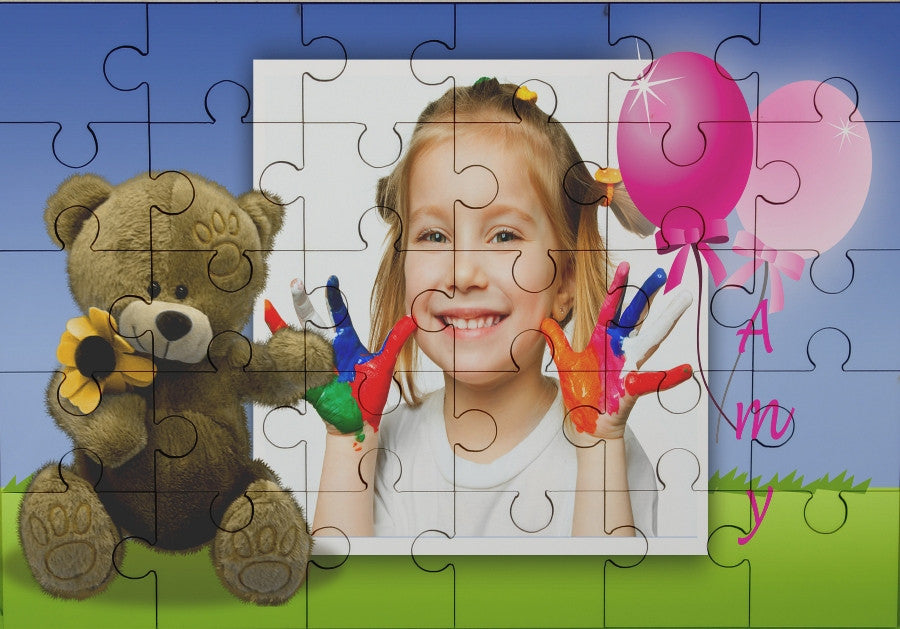 Teddy bear photo jigsaw
