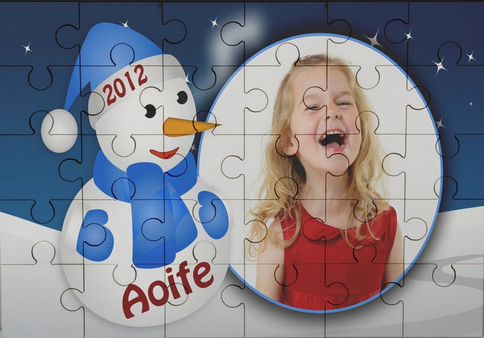 Snowman photo jigsaw