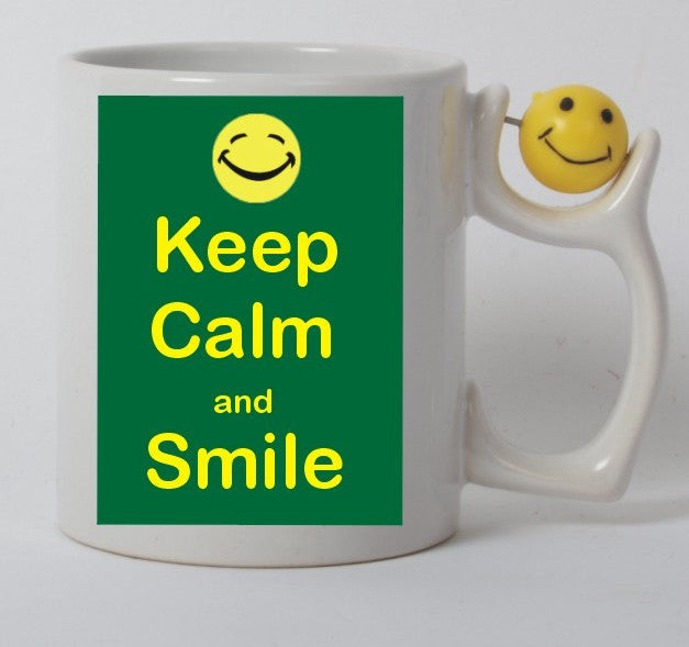 Keep calm and smile mug
