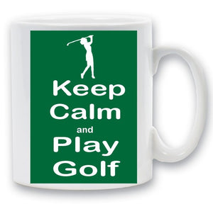 Keep calm golf mug