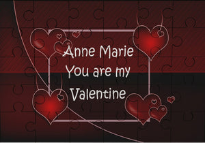 Valentine wooden message jigsaw