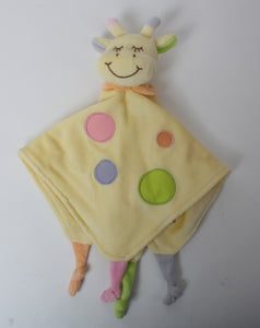 Baby Comforter with Giraffe in Yellow