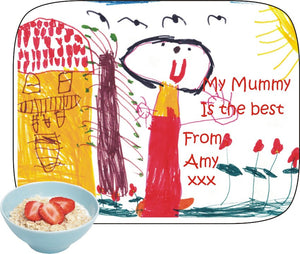 Personalised drawing placemat