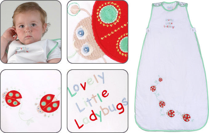 Lovely little ladybugs baby sleeping bag