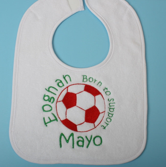Personalised football bib