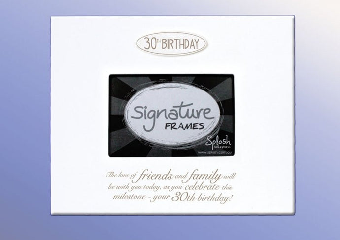 30th birthday signature frame