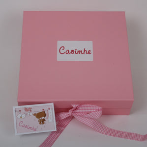 Bath time gift set in pink box