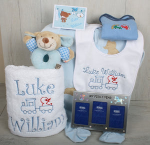 Woody Personalised Gift Set Blue