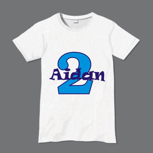 Personalised child's birthday t-shirt