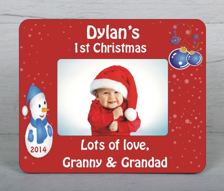 Baby\'s first Christmas photo frame – www.justathought.ie