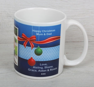 Christmas baubles mug