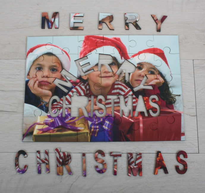 Merry Christmas photo jigsaw