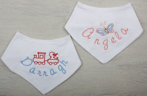 Simba Personalised Baby Gift Set in Blue - bandana bib