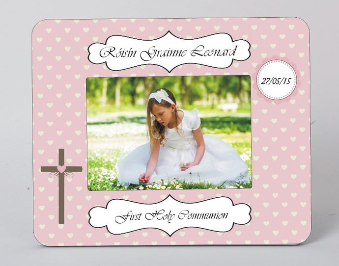 Personalised communion picture frame