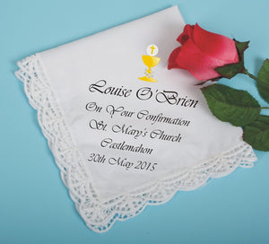 Confirmation cotton printed handkerchief
