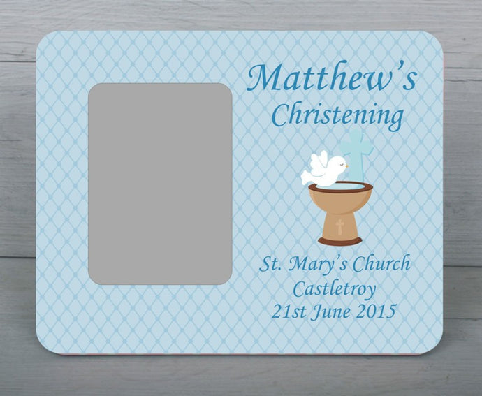 Baby's Christening day photo frame