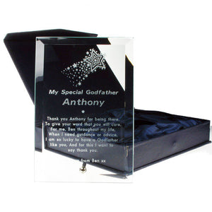 Godfather glass plaque