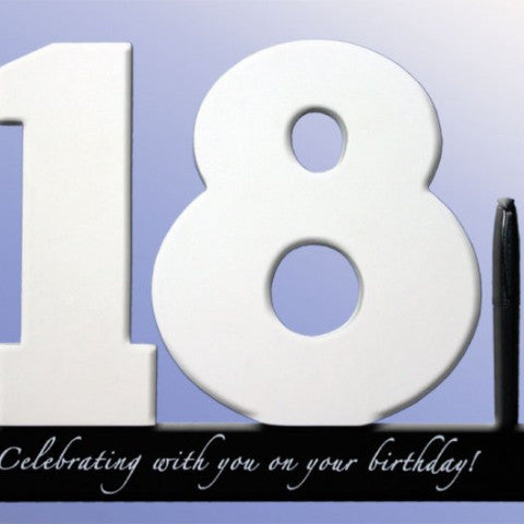 Personalised 18th birthday gift Signature Number