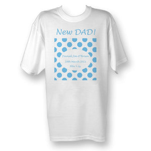 New dad spotty tshirt