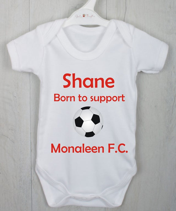 Born to support Football vest