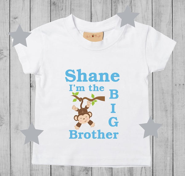 Wedding Gift For Brother Ireland : Personalised big brother tshirt www.justathought.ie