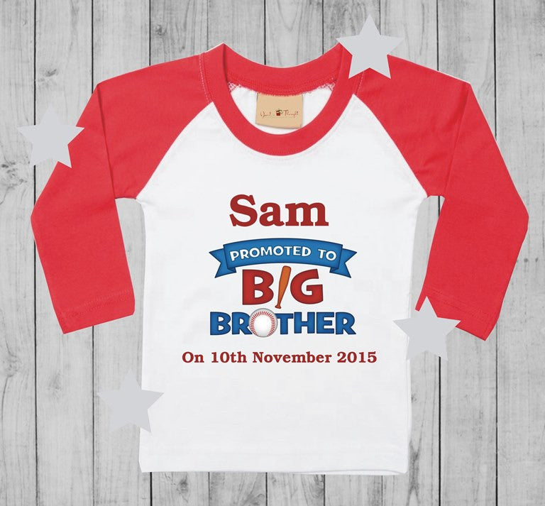 Promoted to big brother t-shirt boy long sleeves