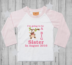 Personalised Big Sister Long-sleeved T-Shirt
