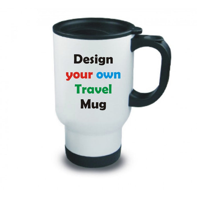 Design your own Travel mug white