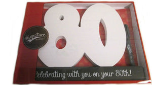 80th Birthday signature number