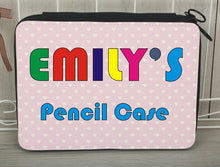 Personalised pencil case pink