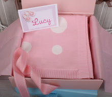 Cotton Polka Dot Baby Blanket Pink *** Out of Stock***